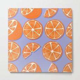 Orange pattern 08 Metal Print