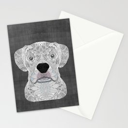 White Boxer Stationery Cards