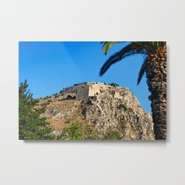 The castle Palamidi of Nafplio, Greece  Metal Print