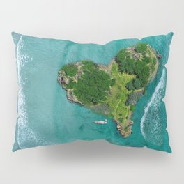 Island Heart Ocean Pillow Sham