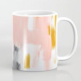 Gray and pink abstract Coffee Mug