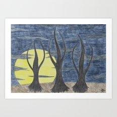 Who Killed Mr. Moonlight Art Print
