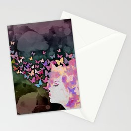 Thinking Butterflies Stationery Cards