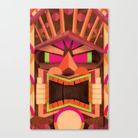 tiki Canvas Prints featuring Tiki by Cimone Key