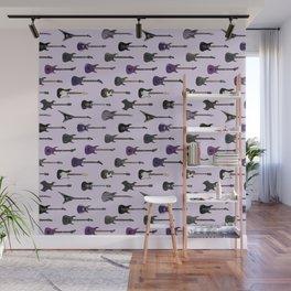Guitars  - purple and black Wall Mural