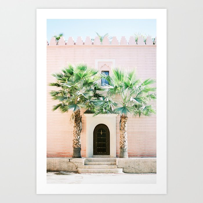 """Travel photography print """"Magical Marrakech"""" photo art made in Morocco. Pastel colored. Art Print"""