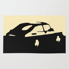 Saab 900 classic, Black on Cream Rug
