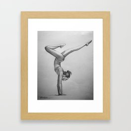 yoga pose Framed Art Print