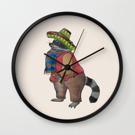 Drinking Raccoon Wall Clock