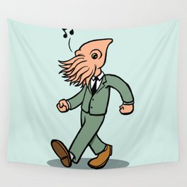 Whistling Squidface Wall Tapestry