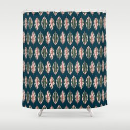 Tropical Plant Lady Shower Curtain