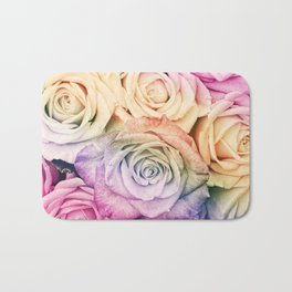 Some people grumble- Colorful Roses- Rose pattern Bath Mat