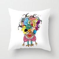 talking heads Throw Pillows featuring Heads by R. Gorkem Gul