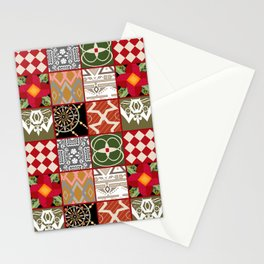 National ethnic patchwork . Stationery Cards
