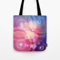 the lights Tote Bags featuring lights by haroulita