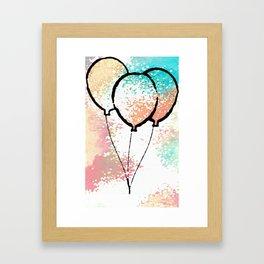 Birthday Balloons Framed Art Print