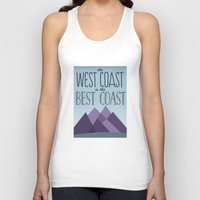 west coast Tank Tops featuring West Coast by Kyramari