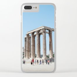 The temples of Athens Clear iPhone Case