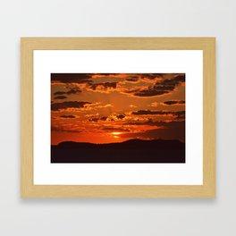 Ibiza Sunset Framed Art Print