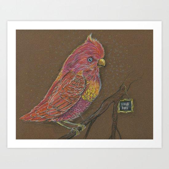Vivid Bird Art Print