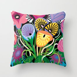 Dripping Gardens Throw Pillow