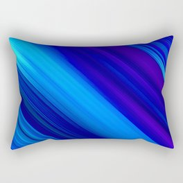 Abstract watercolor colorful lines painting Rectangular Pillow