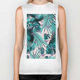 Tropical Unicorn Butterfly Jungle Leaves Pattern #1 #tropical #decor #art #society6 Biker Tank