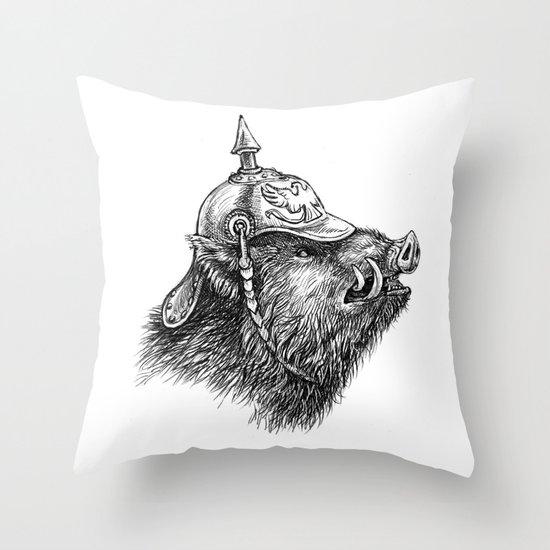 War Pig Throw Pillow
