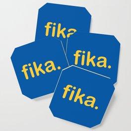 Fika Gul & Blå Coaster