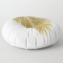 Palm Leaf Gold I Floor Pillow