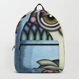 Owl illustration drawing Backpack