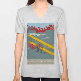 Wilbur and Orville Wright, 1903 (c) Unisex V-Neck