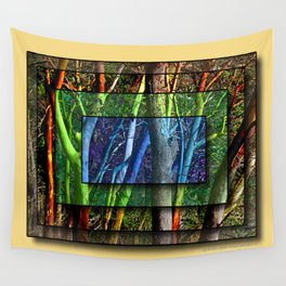 CENTERED SHUFFLE IN A MADRONA THICKET Wall Tapestry