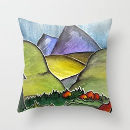 Forest Print. Throw Pillow