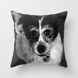 Dot | Border Collie mix  Throw Pillow