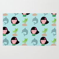 hawaii Area & Throw Rugs featuring hawaii by Sucoco