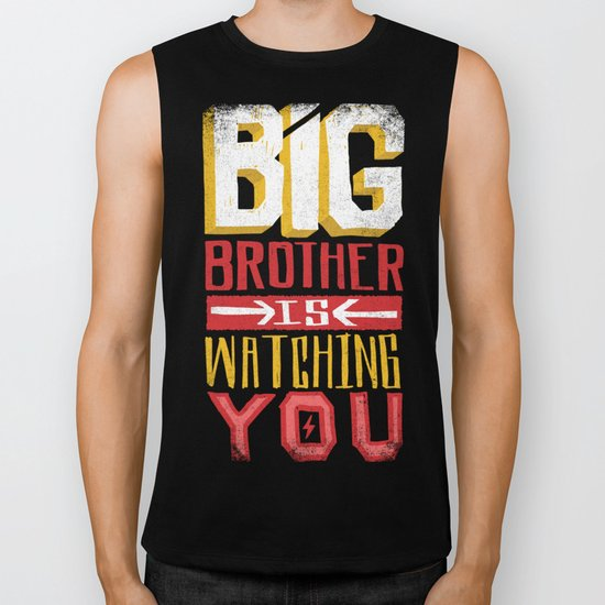 BIG BROTHER IS WATCHING YOU Biker Tank