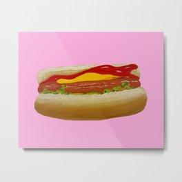 Pink Dog Metal Print