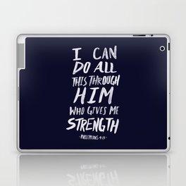 Philippians 4: 13 x Navy Laptop & iPad Skin