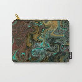 Abstract Painting with an Aqua Light Carry-All Pouch