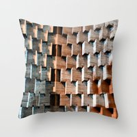 shadow Throw Pillows featuring Shadow by Avigur
