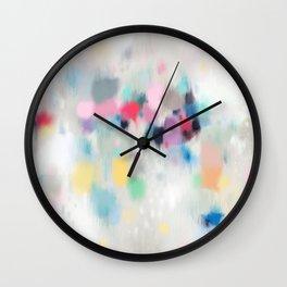 Dreamy Abstract Wall Clock