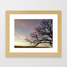 Subtle savanna sunset - Pheasant Branch Conservancy Framed Art Print