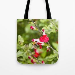 Busy bee in the flowers Tote Bag
