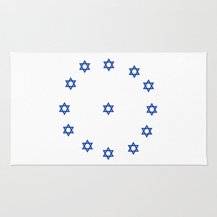 Star of David. A Clock.-Magen David,israel,judaism,bible, מָגֵן דָּוִד, jerusalem Rug