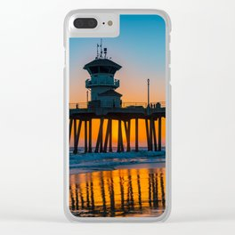 Halloween Sunset Clear iPhone Case