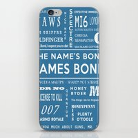 bond iPhone & iPod Skins featuring Bond Blue by Candace Fowler Ink&Co.