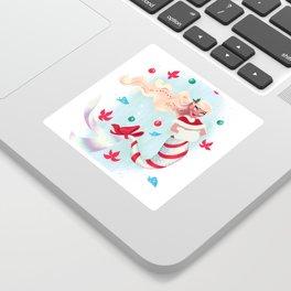 Holiday Mermaid Sticker