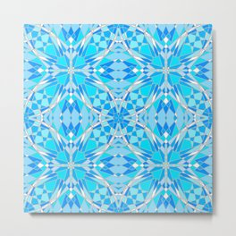 Icy Stained Glass Metal Print