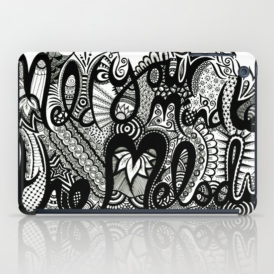 Meld your mind to the melody - ANALOG Zine submission iPad Case